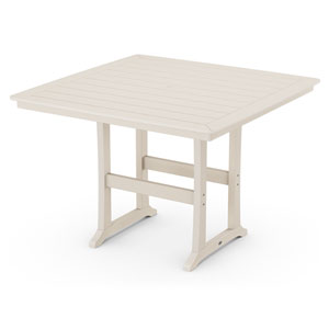 Nautical Trestle Sand 59-Inch Bar Table
