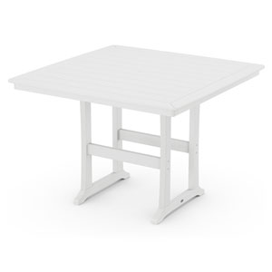 Nautical Trestle White 59-Inch Bar Table