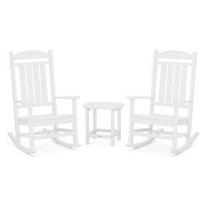 Presidential White Rocker Set, 3-Piece