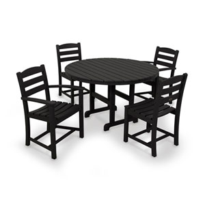 La Casa Cafe Black Dining Set, 5-Piece