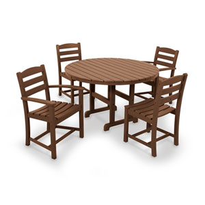 La Casa Cafe Teak Dining Set, 5-Piece