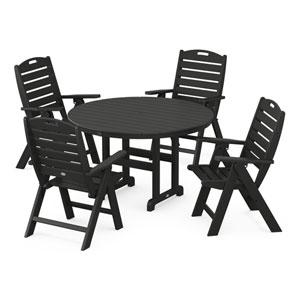 Nautical Black Dining Set, 5-Piece