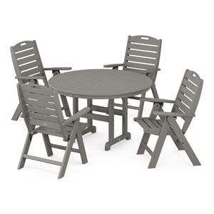 Nautical Slate Grey Dining Set, 5-Piece