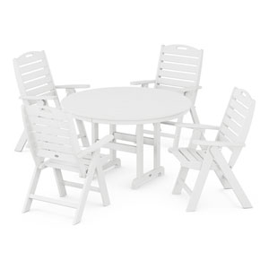 Nautical White Dining Set, 5-Piece