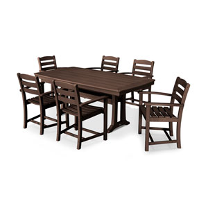 La Casa Mahogany Arm Chair Dining Set, 7-Piece