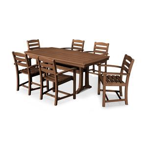 La Casa Teak Arm Chair Dining Set, 7-Piece