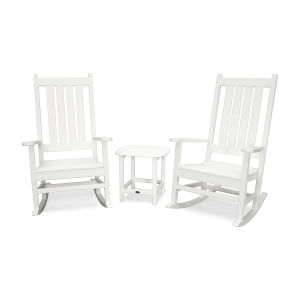 Vineyard White Rocking Set, 3-Piece