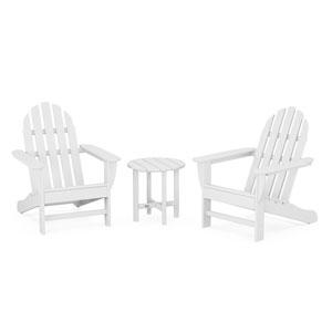 Classic White Adirondack Set, 3-Piece