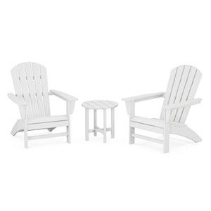 Nautical White Adirondack Set, 3-Piece