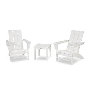 Modern White Adirondack Set, 3-Piece