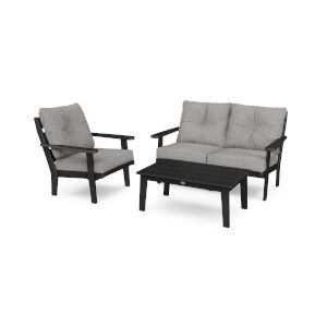 Lakeside Black and Grey Mist Deep Seating Set, 3-Piece
