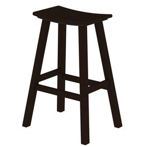 Mahogany Traditional Bar Height Saddle Seat Barstool