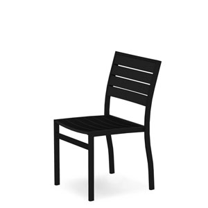 Euro Black and Black Side Chair