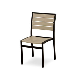 Euro Black and Sand Side Chair