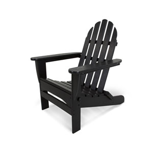 Classic Adirondack Black Chair