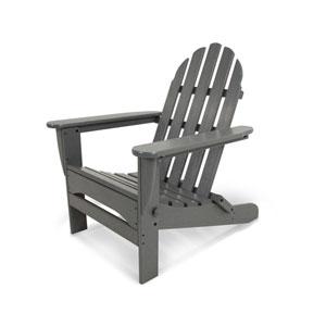 Classic Adirondack Slate Grey Chair
