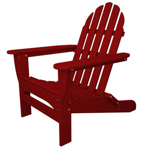 Classic Adirondack Sunset Red Chair