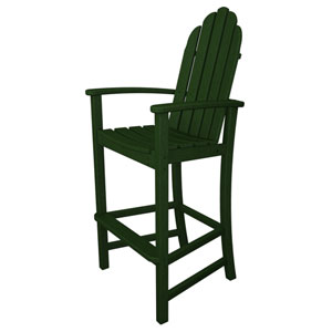 Adirondack Dining Green Bar Height Chair