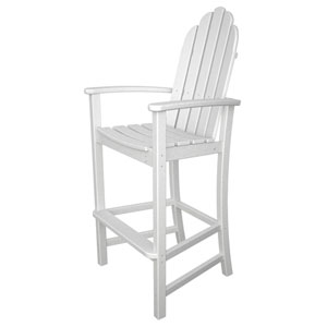 Adirondack Dining White Bar Height Chair