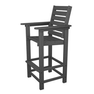 Captain Slate Grey Bar Height Chair