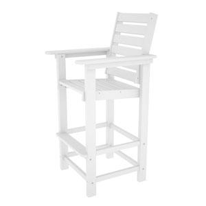 Captain White Bar Height Chair