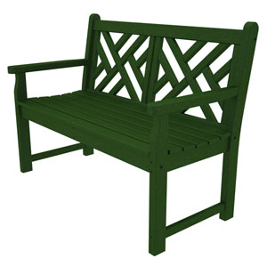 Chippendale Green 48 Inch Bench