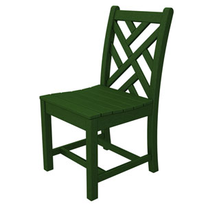 Chippendale Green Dining Side Chair