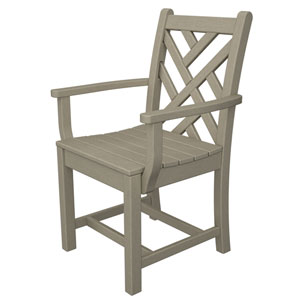 Chippendale Sand Dining Arm Chair