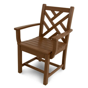 Chippendale Teak Dining Arm Chair