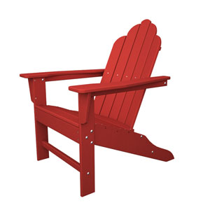 Long Island Adirondack Sunset Red Chair