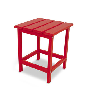 Long Island Adirondack Sunset Red 18 Inch Side Table