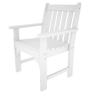 Vineyard White Arm Chair