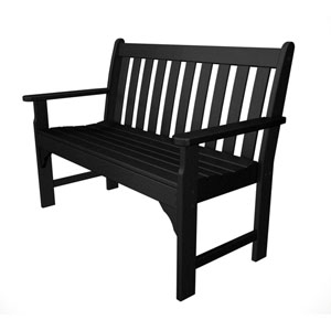 Vineyard Black 48 Inch Bench