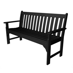 Vineyard Black 60 Inch Bench