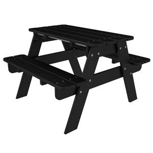 Kid Black Picnic Table