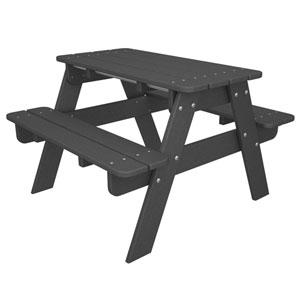 Kid Slate Grey Picnic Table