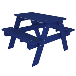 Kid Pacific Blue Picnic Table