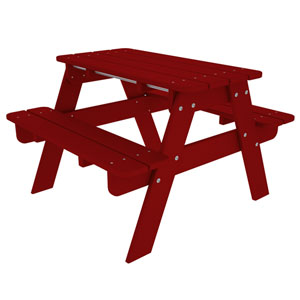 Kid Sunset Red Picnic Table