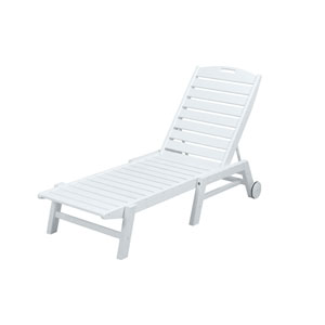 Nautical Wheeled Chaise - Stackable in White
