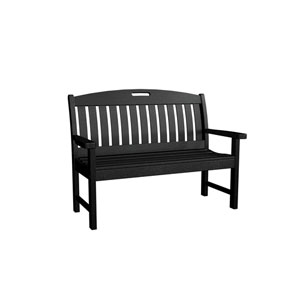 Nautical Black 48 Inch Bench