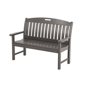 Nautical 48 Inch Bench in Slate Grey