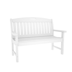 Nautical White 48 Inch Bench