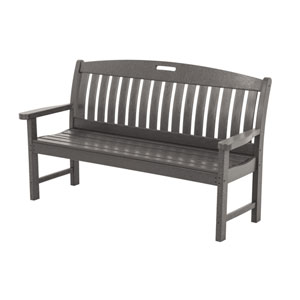 Nautical 60 Inch Bench in Slate Grey
