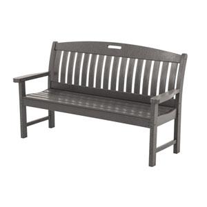 Nautical 60 Inch Bench in Slate Grey