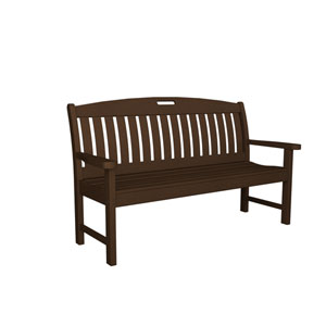 Nautical Mahogany 60 Inch Bench