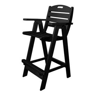Nautical Black Bar Height Chair