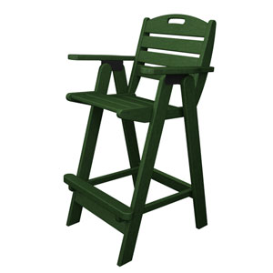 Nautical Green Bar Height Chair