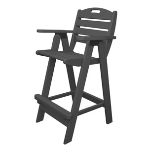 Nautical Slate Grey Bar Height Chair