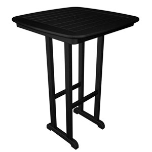 Nautical Black 31 Inch Bar Height Table