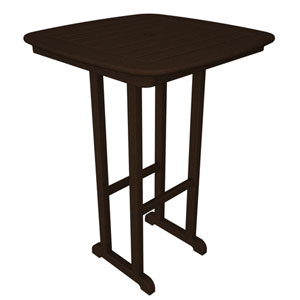 Nautical Mahogany 31 Inch Bar Height Table